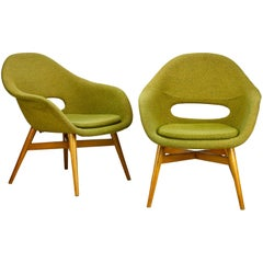 Set of Two Midcentury Easy Chairs by Miroslav Navratil, circa 1960