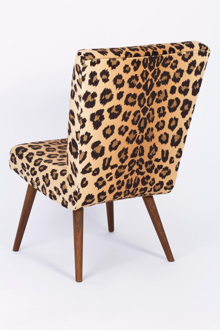 Set of Two Mid-Century Modern Leopard Print Chairs, 1960s, Germany For Sale 3