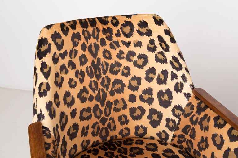 Set of Two Mid-Century Modern Leopard Print Chairs, 1960s, Germany For Sale 5