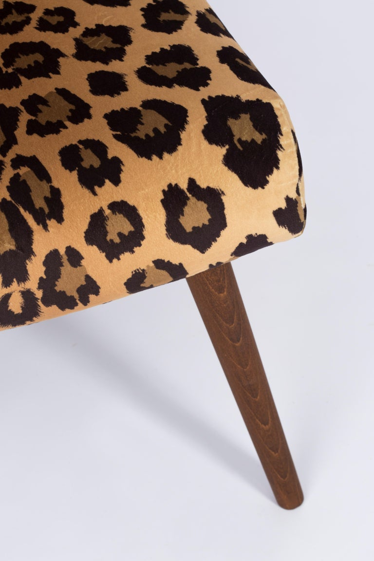 Set of Two Mid-Century Modern Leopard Print Chairs, 1960s, Germany For Sale 1