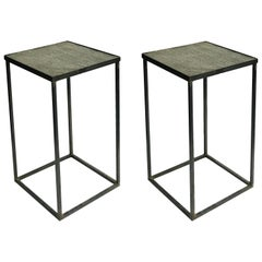 Set of Two Mid-Century Modern Metal Side or Occasional Tables