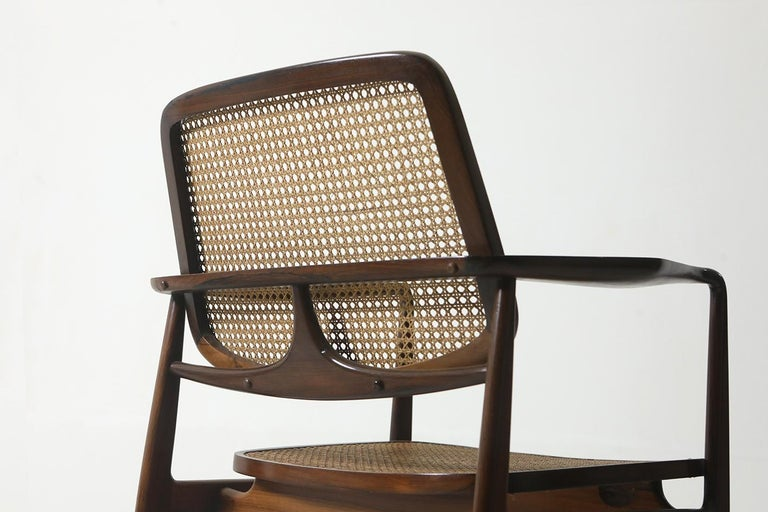 Brazilian Set of Two Mid-Century Modern Oscar Armchairs by Sergio Rodrigues, Brazil, 1956 For Sale