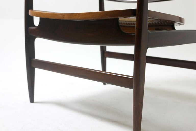 Mid-20th Century Set of Two Mid-Century Modern Oscar Armchairs by Sergio Rodrigues, Brazil, 1956 For Sale