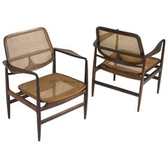 Set of Two Mid-Century Modern Oscar Armchairs by Sergio Rodrigues, Brazil, 1956