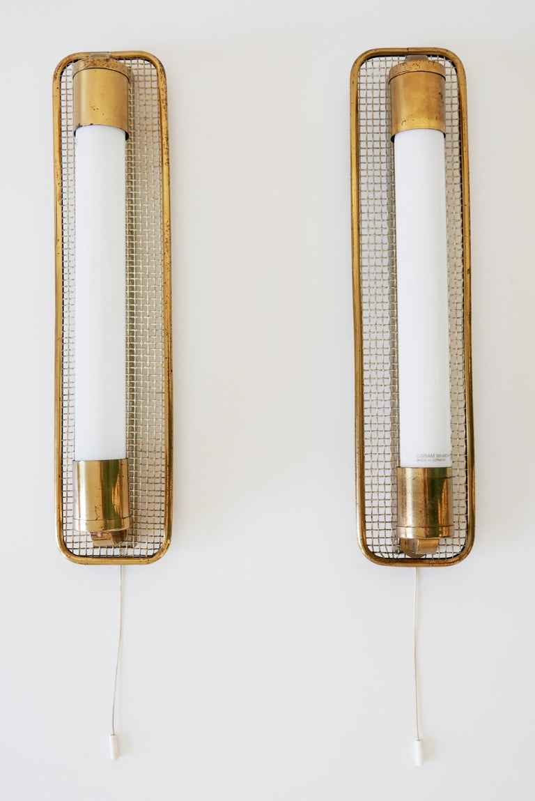Set Of Two Mid Century Modern Wall Lamps Or Sconces 1950s Germany