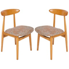 Set of Two Midcentury Black Pixel Dining Chairs, 1960s