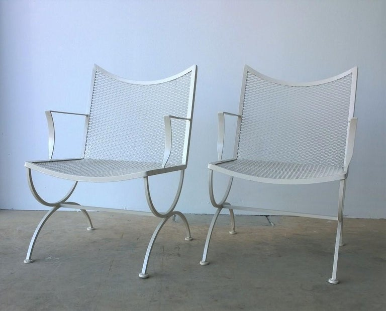 Offered is a set of 2 Mid-Century Modern to late 20th century modern newly painted in