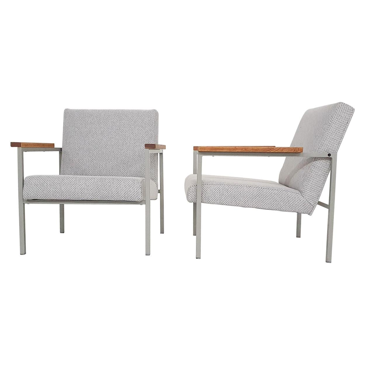Set of Two Midcentury Dutch Design Lounge Chairs, 1960s
