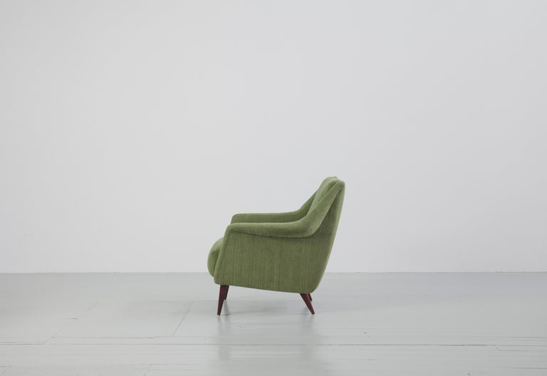 Set of Two Midcentury Green Model 802 Armchairs by Carlo de Carli for Cassina For Sale 3