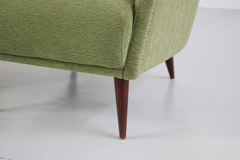 Set of Two Midcentury Green Model 802 Armchairs by Carlo de Carli for Cassina For Sale 6