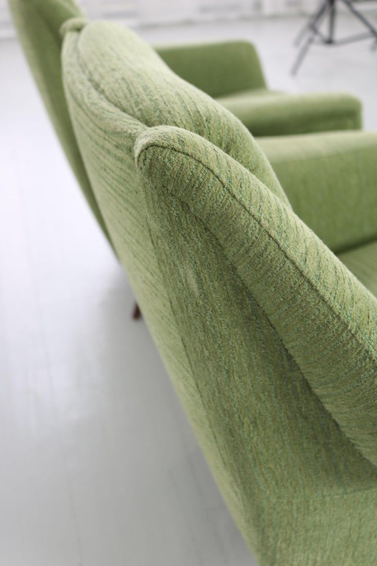 Set of Two Midcentury Green Model 802 Armchairs by Carlo de Carli for Cassina For Sale 9