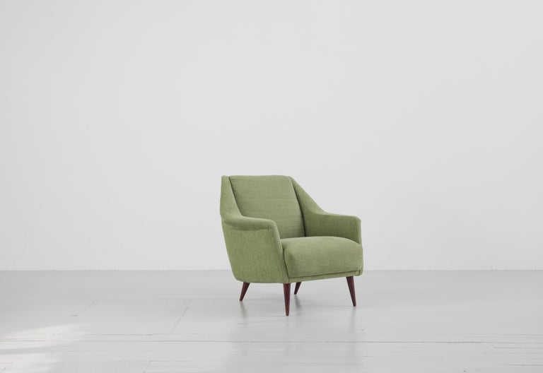 Set of Two Midcentury Green Model 802 Armchairs by Carlo de Carli for Cassina In Good Condition For Sale In Wolfurt, AT