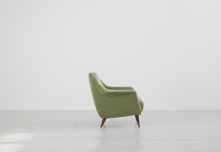 Mid-20th Century Set of Two Midcentury Green Model 802 Armchairs by Carlo de Carli for Cassina For Sale