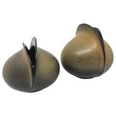 "Set of Two Midcentury Uta Feyl ""Venus"" Ceramic Vases for Rosenthal Studio Line"