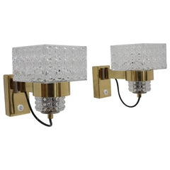Set of Two Midcentury Wall Lamps Lidokov, 1970s
