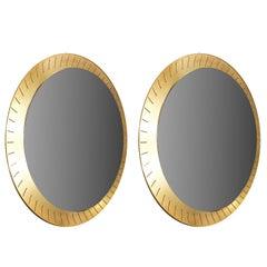 Set of Two Mirrors by Stilnovo, Italy, 1960