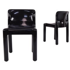 Set of Two Model 4875 Chairs by Carlo Bartoli for Kartell, Italy, 1970S