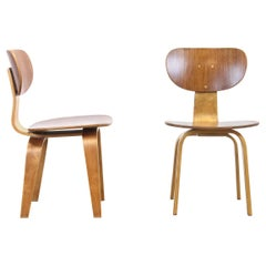Set of Two Model SB02 Chairs by Cees Braakman for Pastoe, 1950s