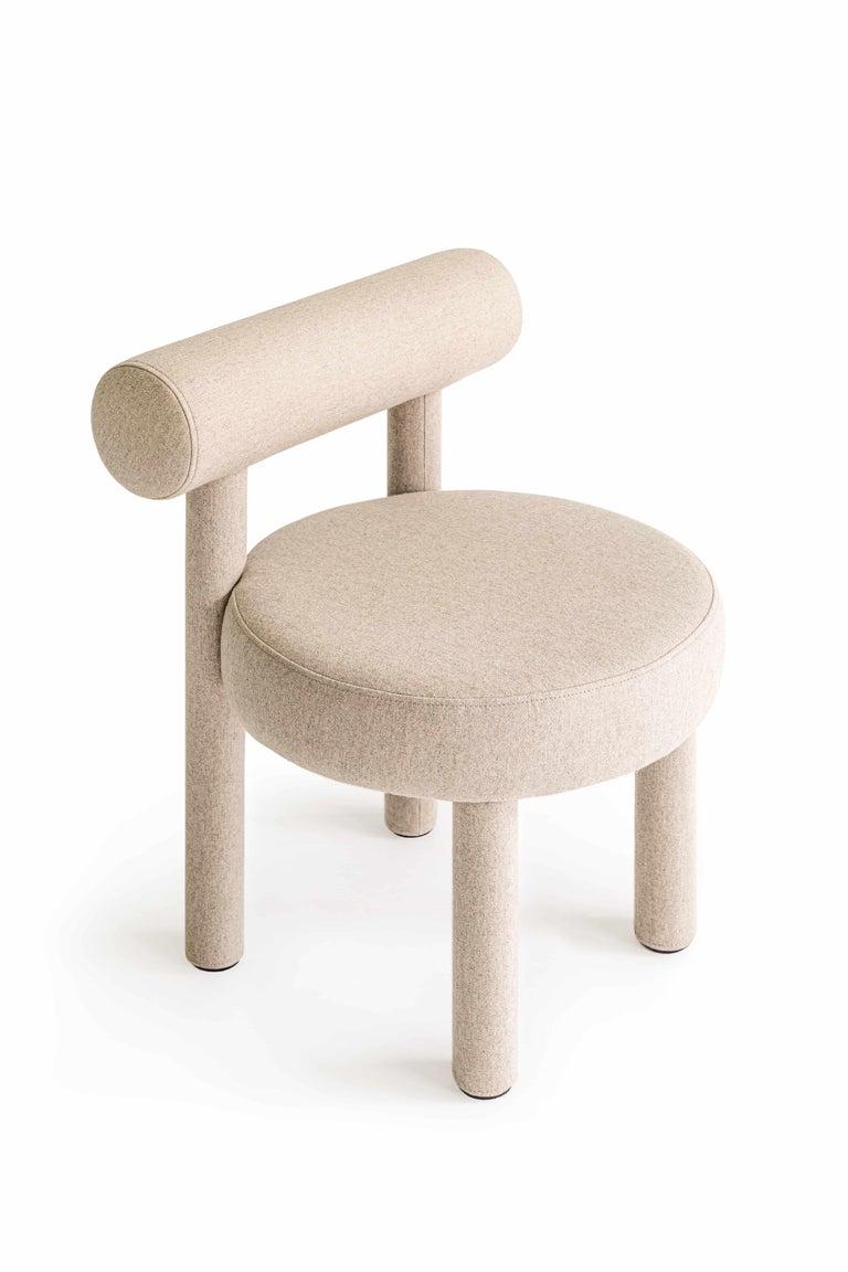 Set of Two Modern Chair Gropius CS1 in Matt Velvet Fabric by Noom For Sale 5