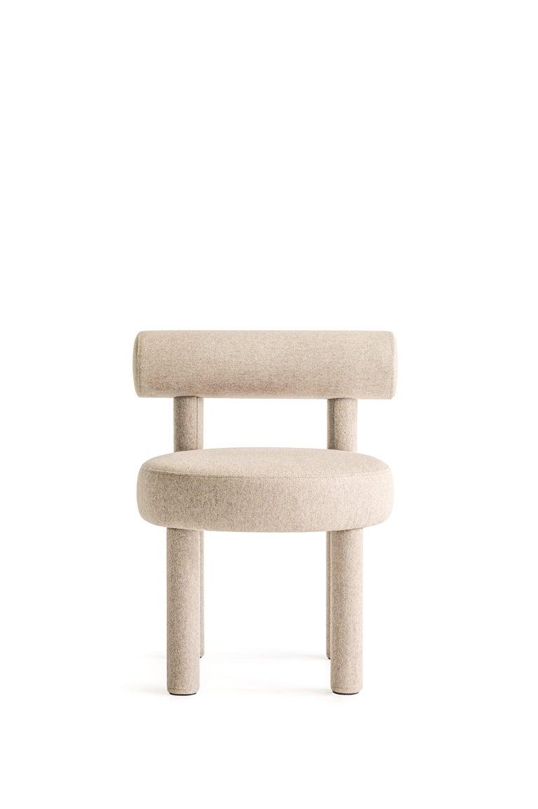 Set of Two Modern Chair Gropius CS1 in Matt Velvet Fabric by Noom For Sale 7