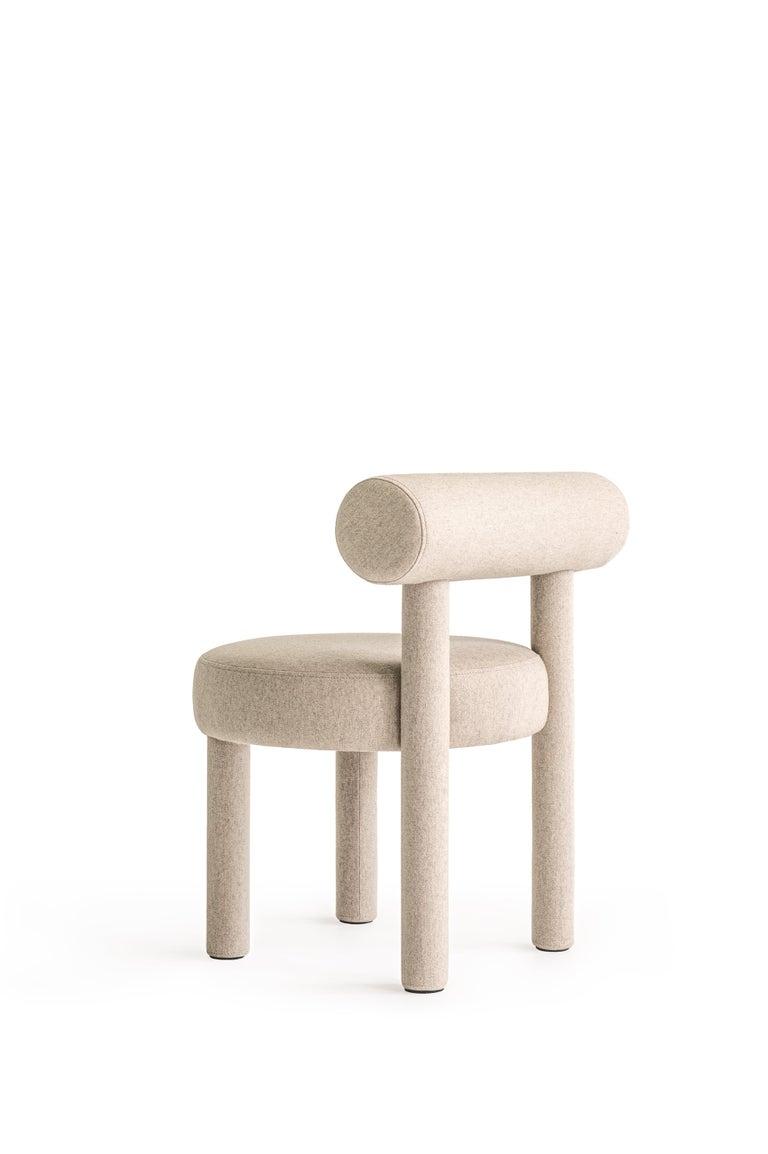 Set of Two Modern Chair Gropius CS1 in Matt Velvet Fabric by Noom For Sale 8