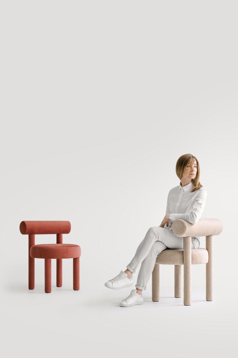 Ukrainian Set of Two Modern Chair Gropius CS1 in Matt Velvet Fabric by Noom For Sale