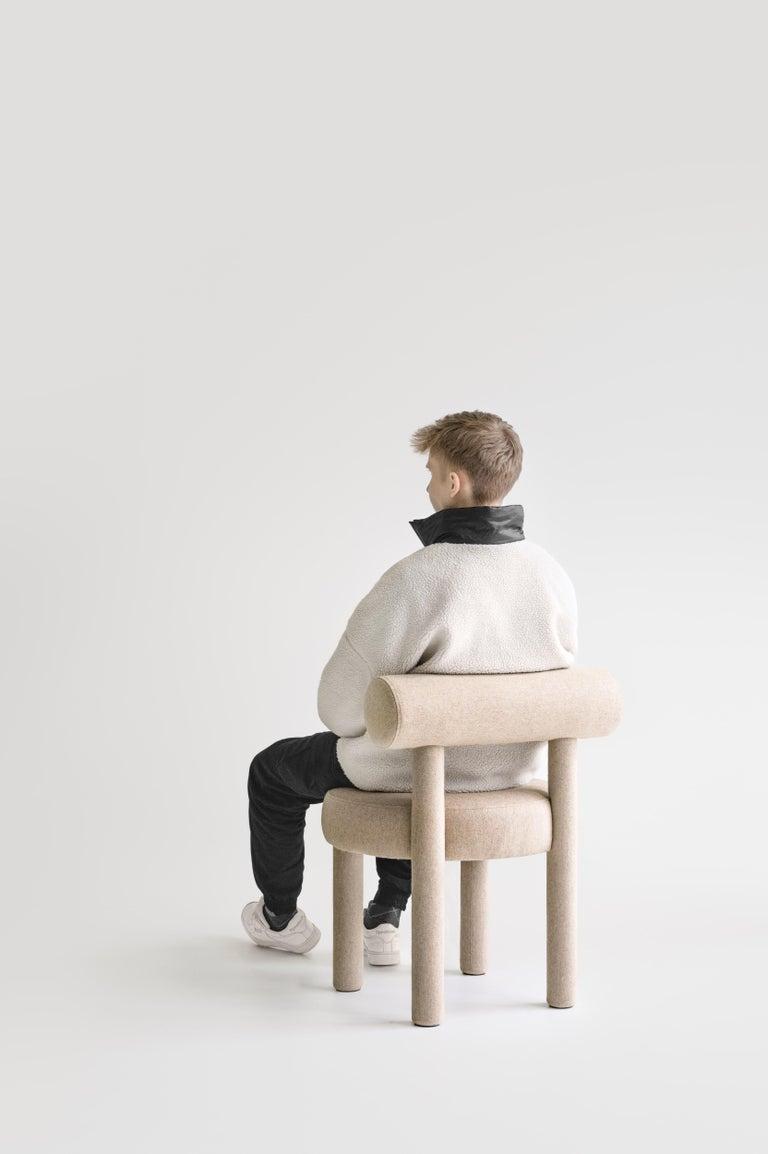 Contemporary Set of Two Modern Chair Gropius CS1 in Matt Velvet Fabric by Noom For Sale