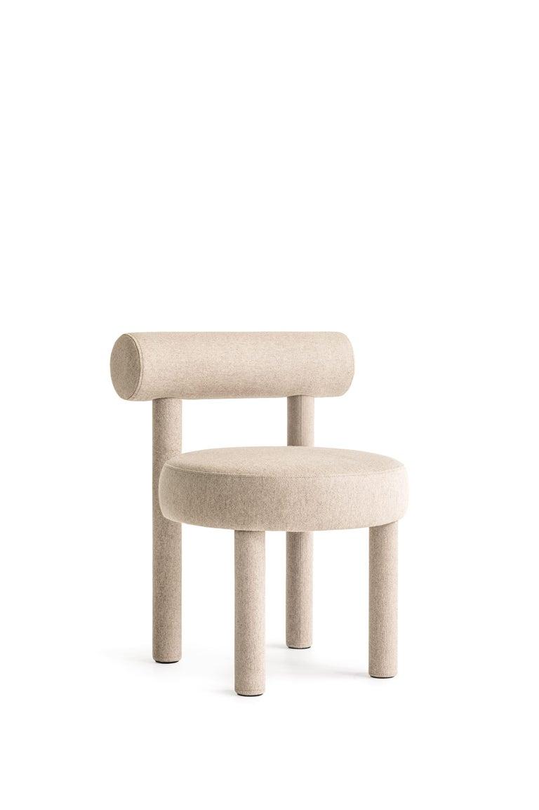 Set of Two Modern Chair Gropius CS1 in Matt Velvet Fabric by Noom For Sale 1