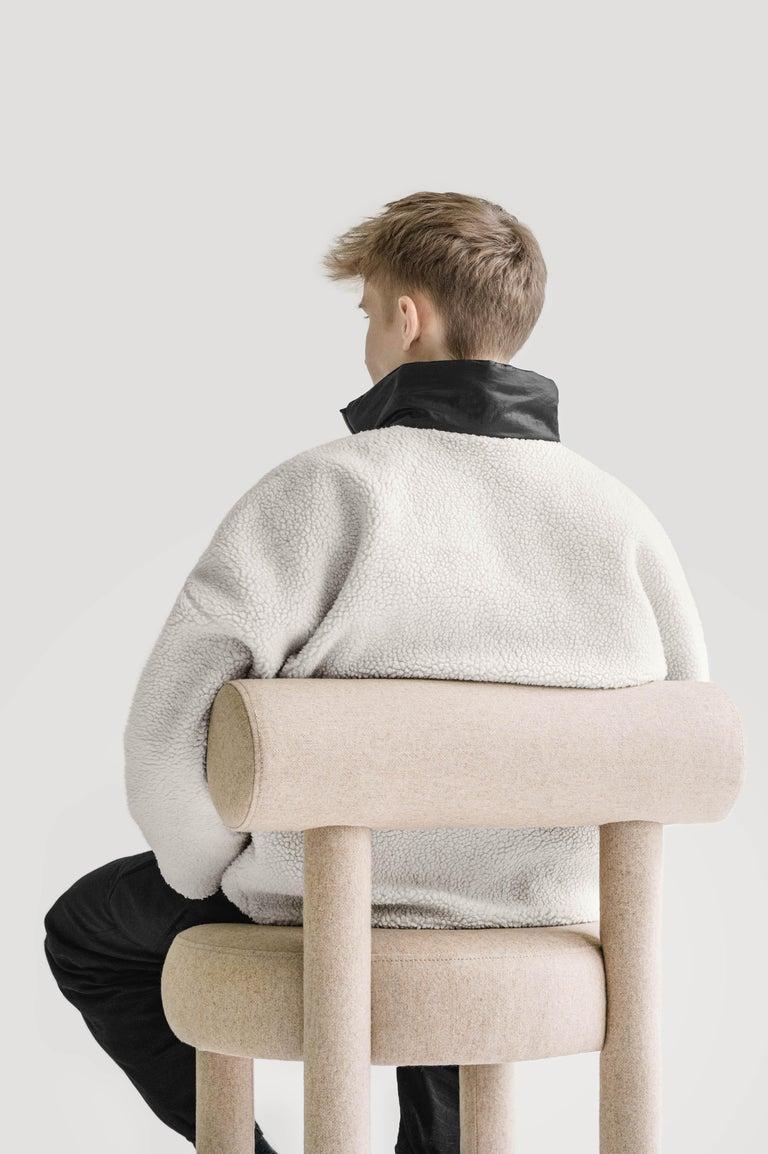Set of Two Modern Chair Gropius CS1 in Matt Velvet Fabric by Noom For Sale 2