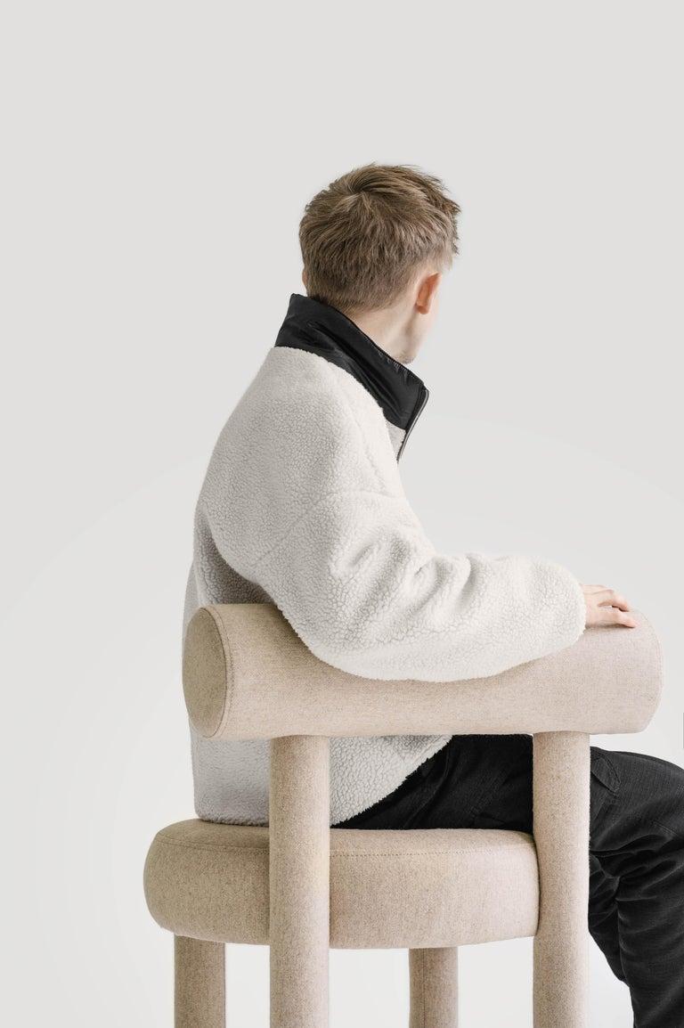 Set of Two Modern Chair Gropius CS1 in Matt Velvet Fabric by Noom For Sale 3