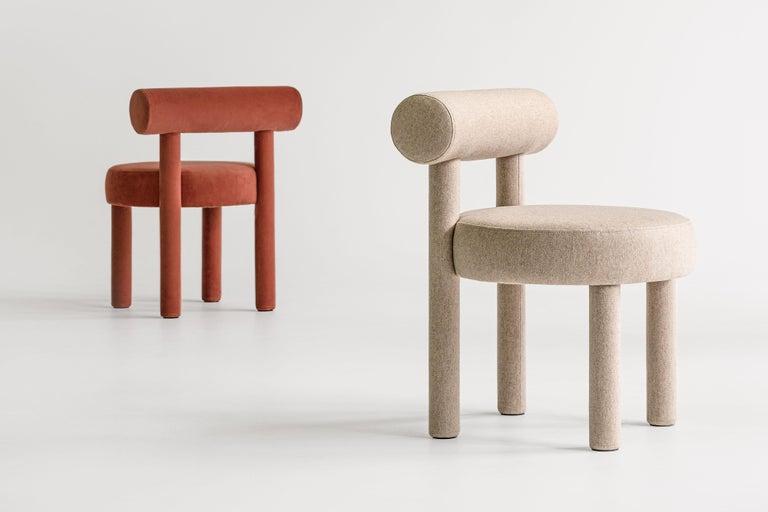 Set of Two Modern Chair Gropius CS1 in Matt Velvet Fabric by Noom For Sale 4