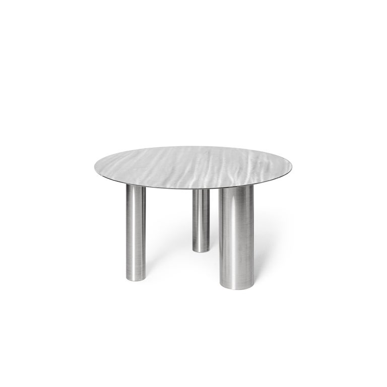 Set of Two Modern Coffee Tables Brandt CS1 by NOOM in Stainless Steel For Sale 2