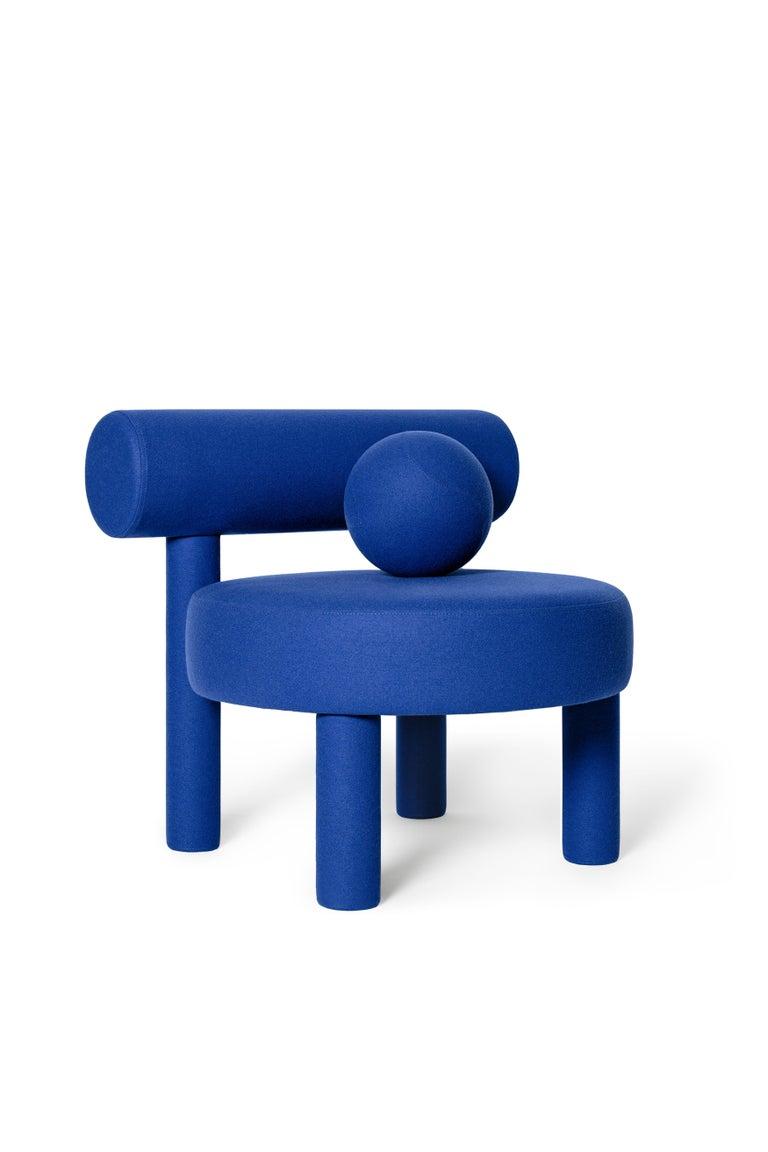 Ukrainian Set of Two Modern Low Chair Gropius CS1 in Fire Retardant Wool by NOOM For Sale