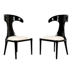 Set of Two Modernism Lacquered Italian Lounge Chairs