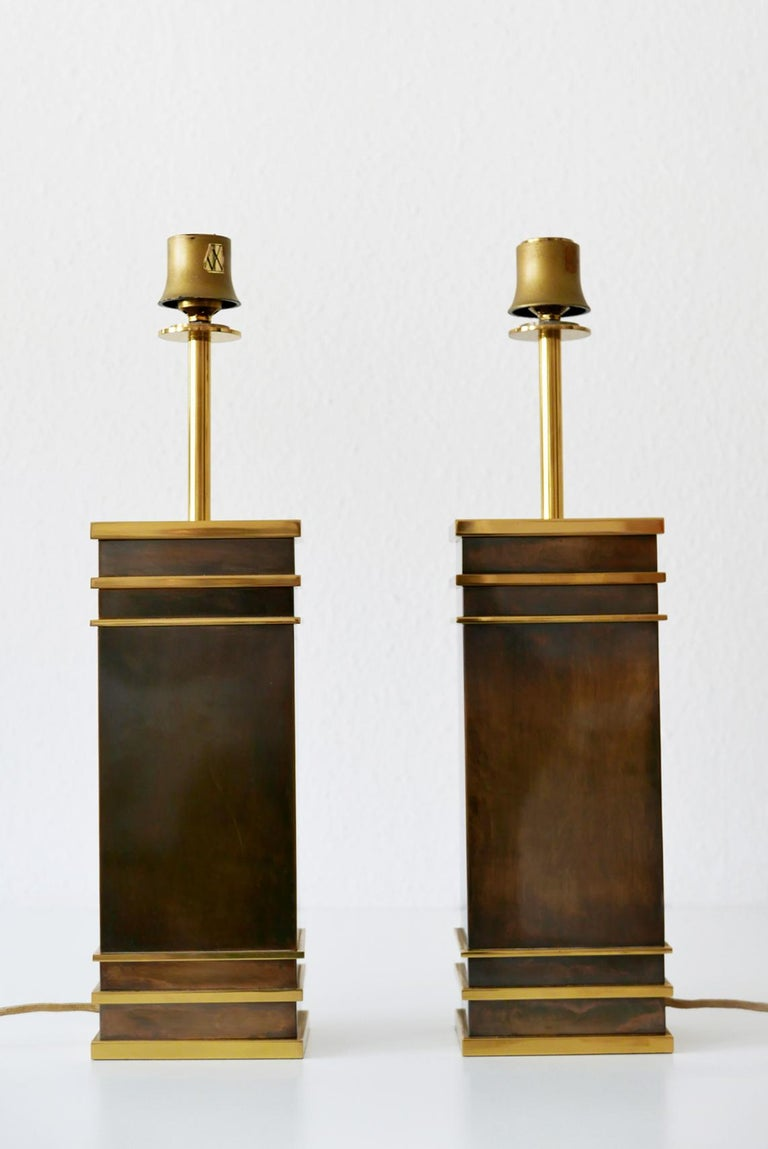 Set of Two Monumental Midcentury Table Lamps by Vereinigte Werkstätten, Germany For Sale 9