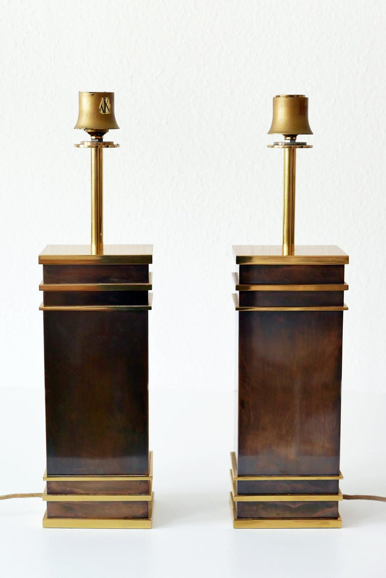 Set of Two Monumental Midcentury Table Lamps by Vereinigte Werkstätten, Germany For Sale 10