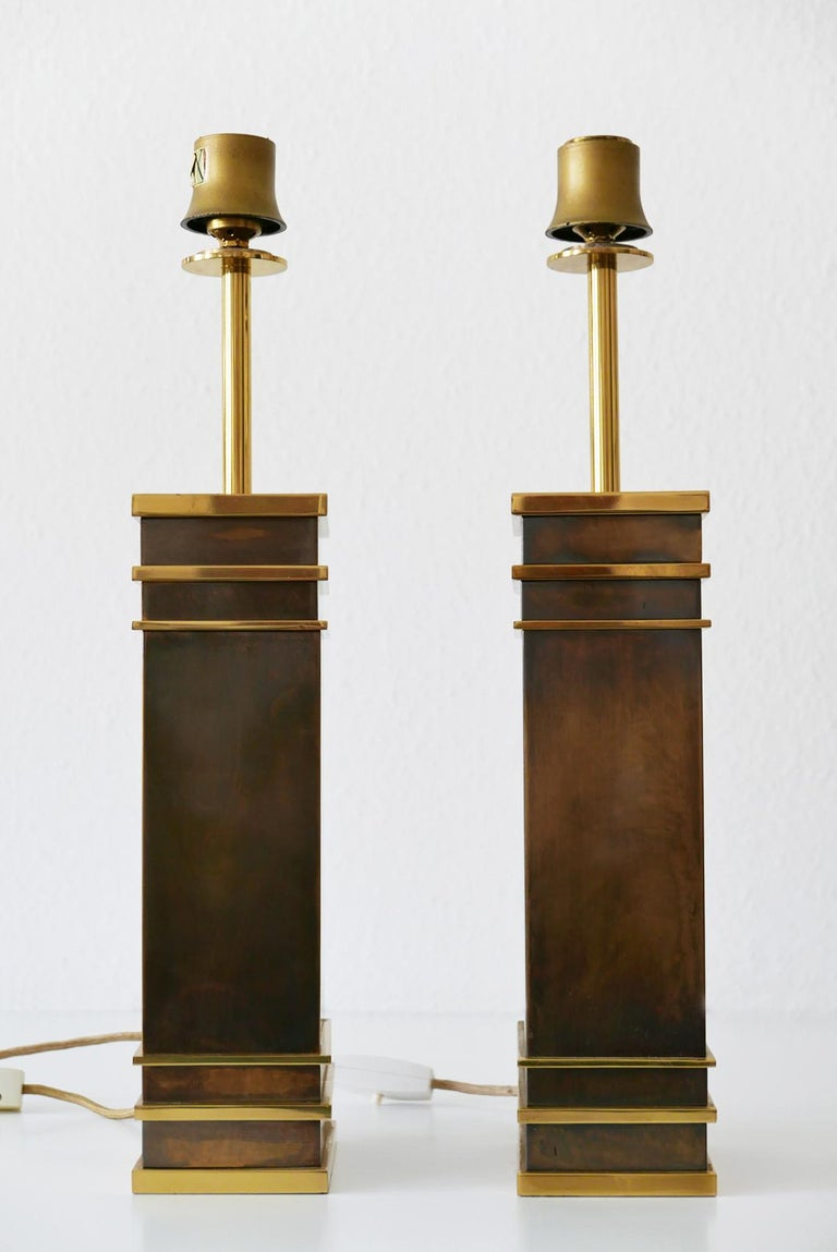 Set of Two Monumental Midcentury Table Lamps by Vereinigte Werkstätten, Germany In Good Condition For Sale In Munich, DE