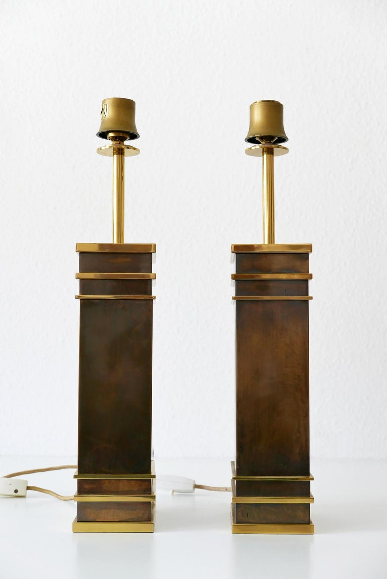 Mid-20th Century Set of Two Monumental Midcentury Table Lamps by Vereinigte Werkstätten, Germany For Sale