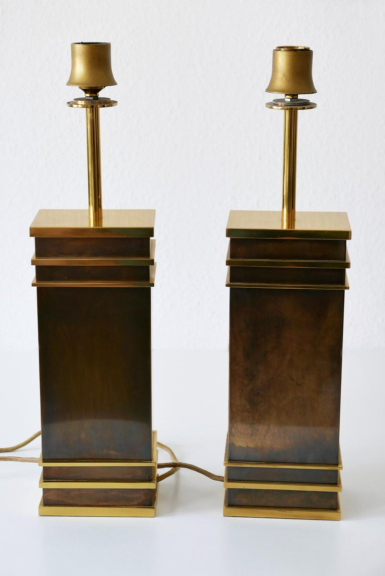 Set of Two Monumental Midcentury Table Lamps by Vereinigte Werkstätten, Germany For Sale 1