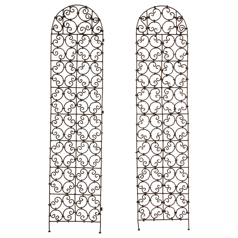 Set of Two Moorish Screen Hand Forged Iron Panels