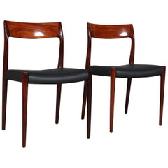 Set of Two N. O. Møller Dining Chairs