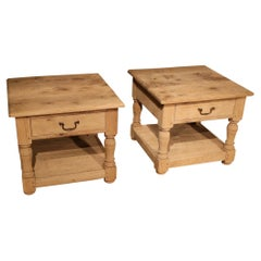Set of Two Oak Coffee Tables