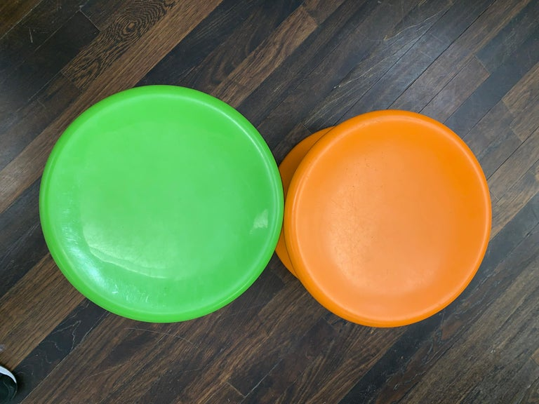 Finnish Set of Two Orange and Green Mushroom Designed by Eero Aarnio For Sale