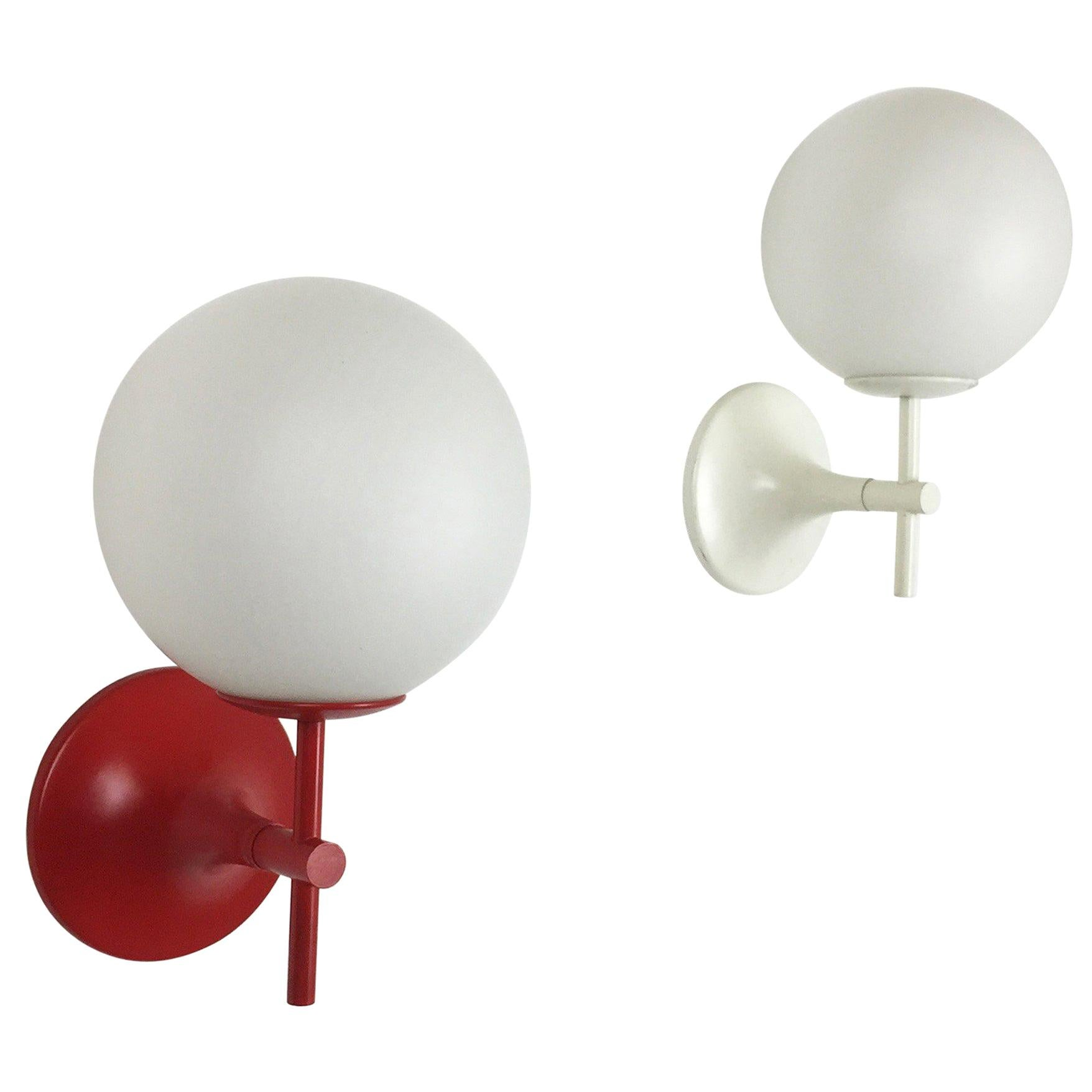 Set of Two Original 1970s Wall Lights by Max Bill for Temde, Switzerland