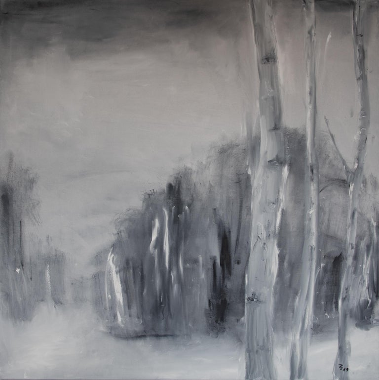 Hand-Painted Set of Two Paintings by Ingrid Stolzenberg 'Landscape' German Post Expressionism For Sale