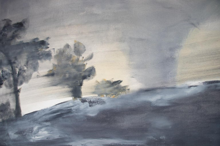 Canvas Set of Two Paintings by Ingrid Stolzenberg 'Landscape' German Post Expressionism For Sale