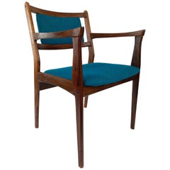 Set of Two Palisander Chairs with Turquoise Fabric from the 1960s