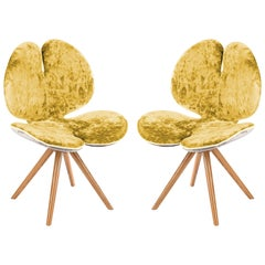 Set of Two Pansè Chairs in Yellow
