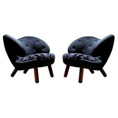 Set of Two Pelican Chairs by Finn Juhl