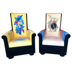 Set of Two Pierre Chareau Armchairs